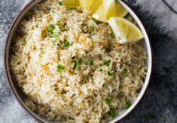 Herbal Lemon Rice Recipe | sweetpeasandsaffron.com