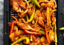 Air Fryer Chicken Fajita | sweetpeasandsaffron.com
