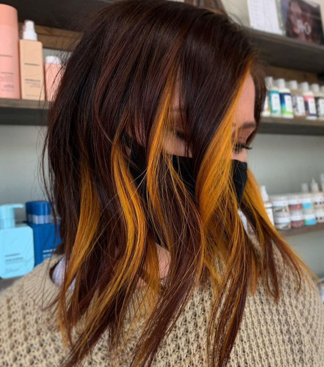 10 ombre balayage lob hairstyles with color surprise!