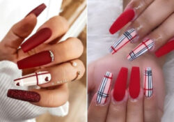 23 beautiful ways to shake red coffin nails