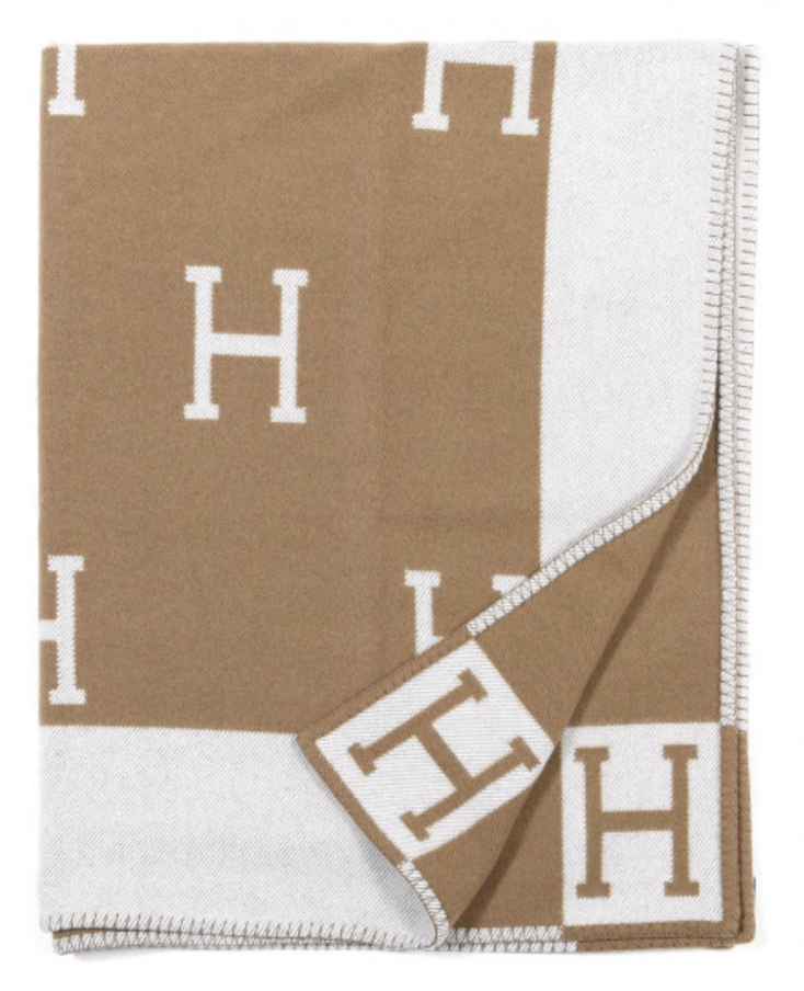 Luxurious gifts for the woman who has everything: Hermes cashmere blanket