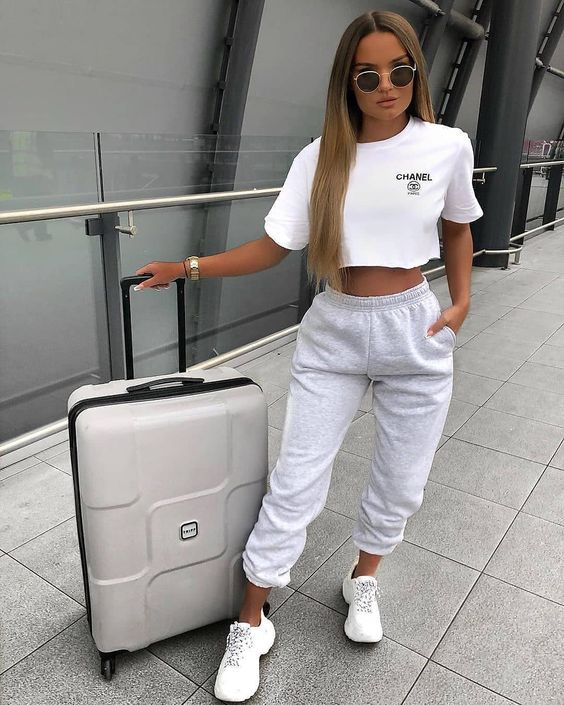 White airport clothes