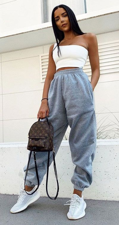 Casual wear with gray tracksuits