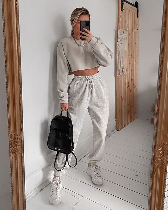 Gray outfit with joggers