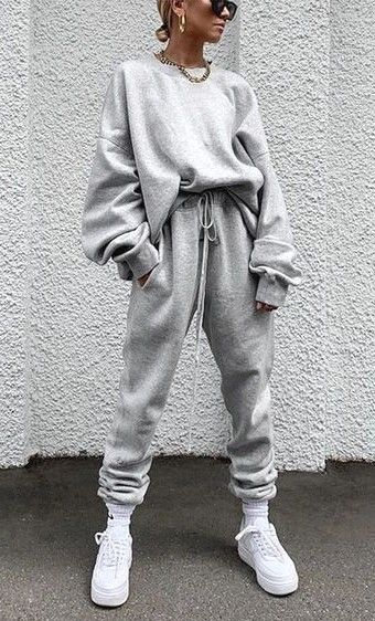Gray outfits with joggers and hoodies