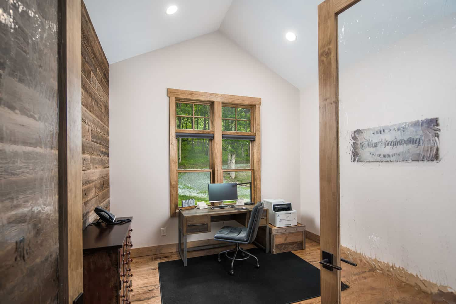 Home office in the mountain style