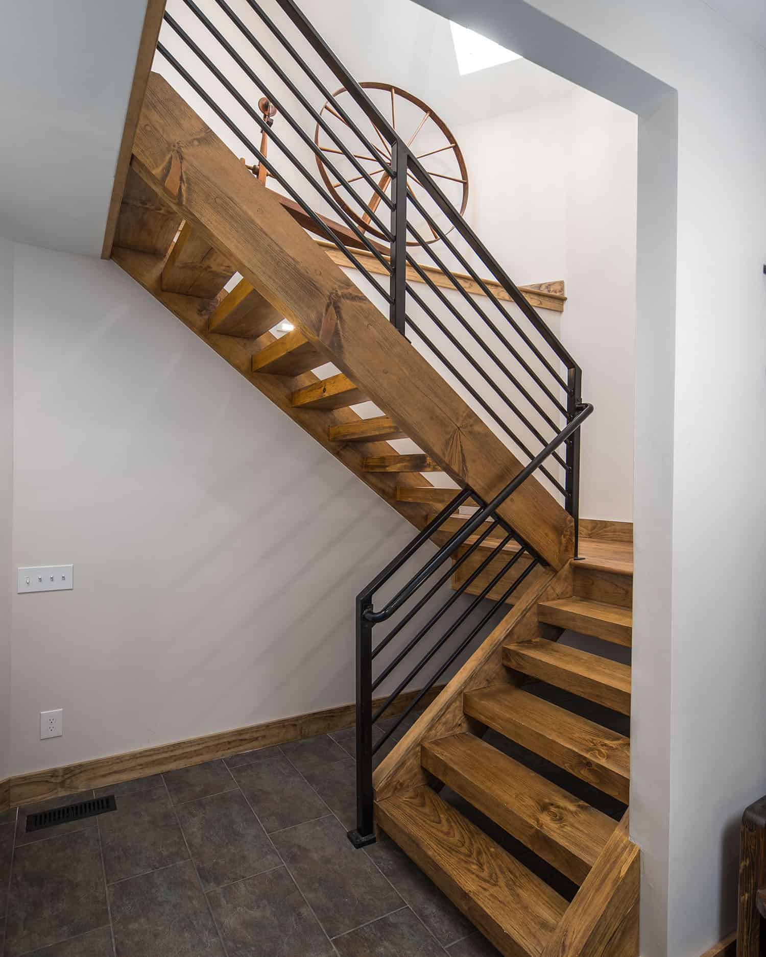 Mountain style stairs