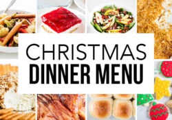 Christmas menu (with printable template)
