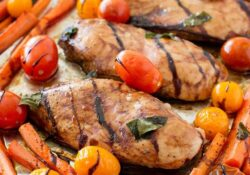 Balsamic Chicken and Vegetables in a Single Pan