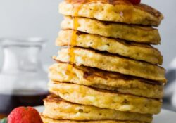 Cottage cheese pancakes (light + fluffy!)