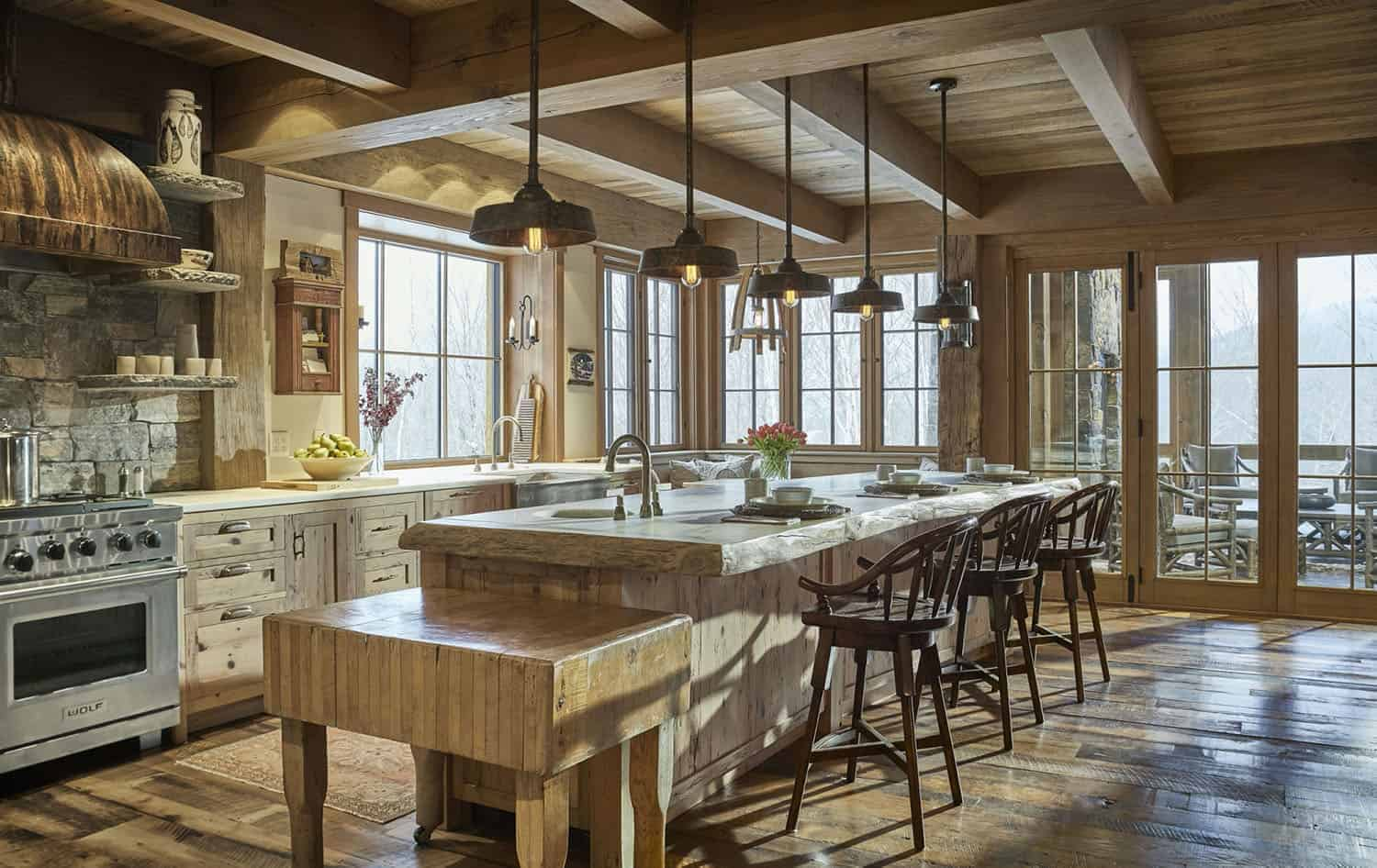 rustic handmade kitchen