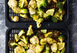 Lemon Pepper Lemon Pepper Air Fryer Chicken + Broccoli