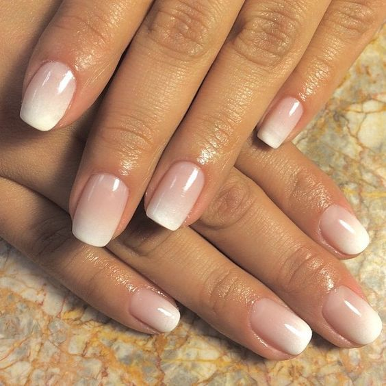 Elegant ombre wedding nails
