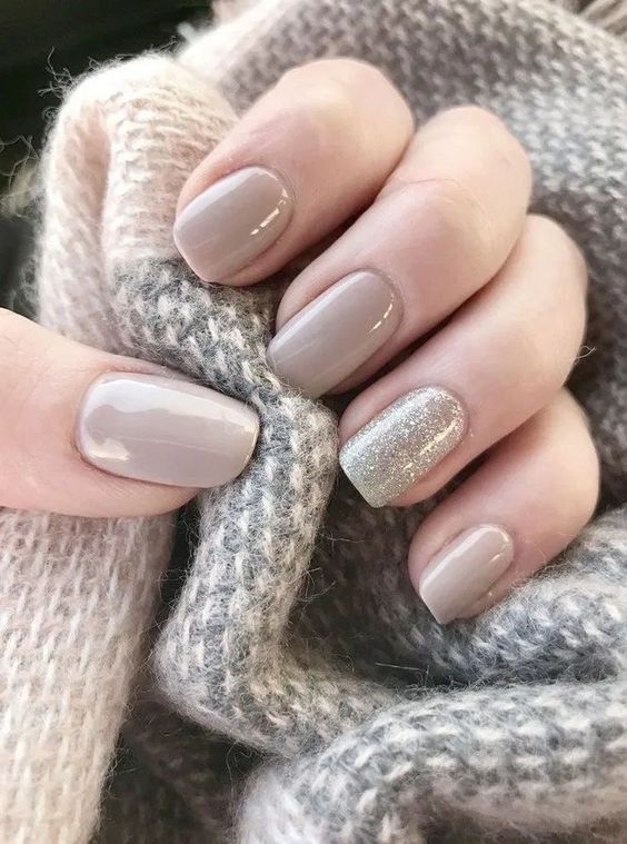 Nude gel wedding nails