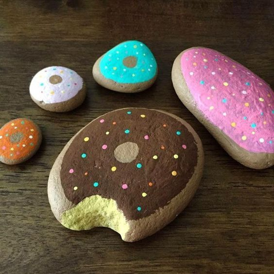 Donut Painted Rocks