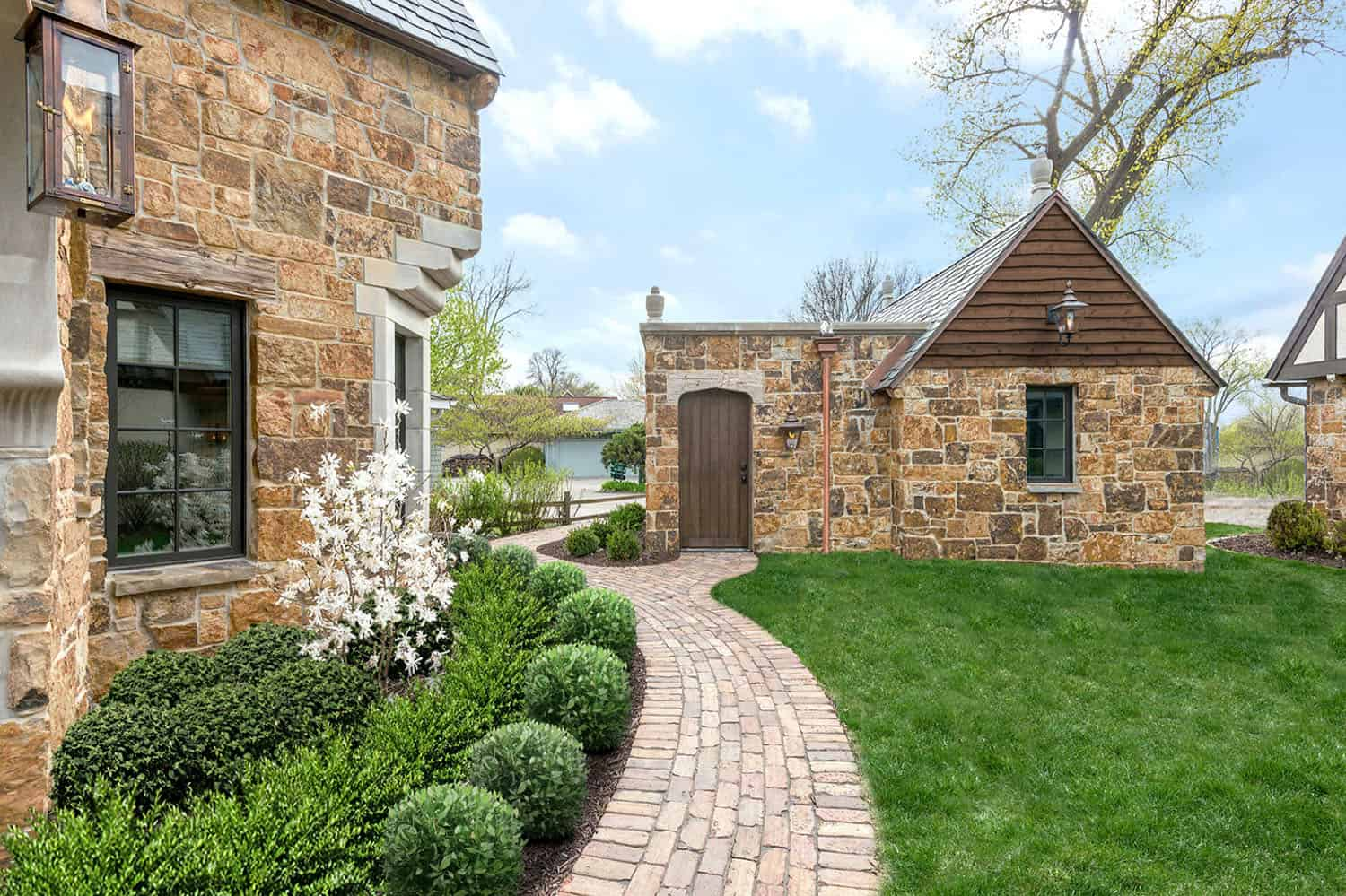 traditional stone house exterior