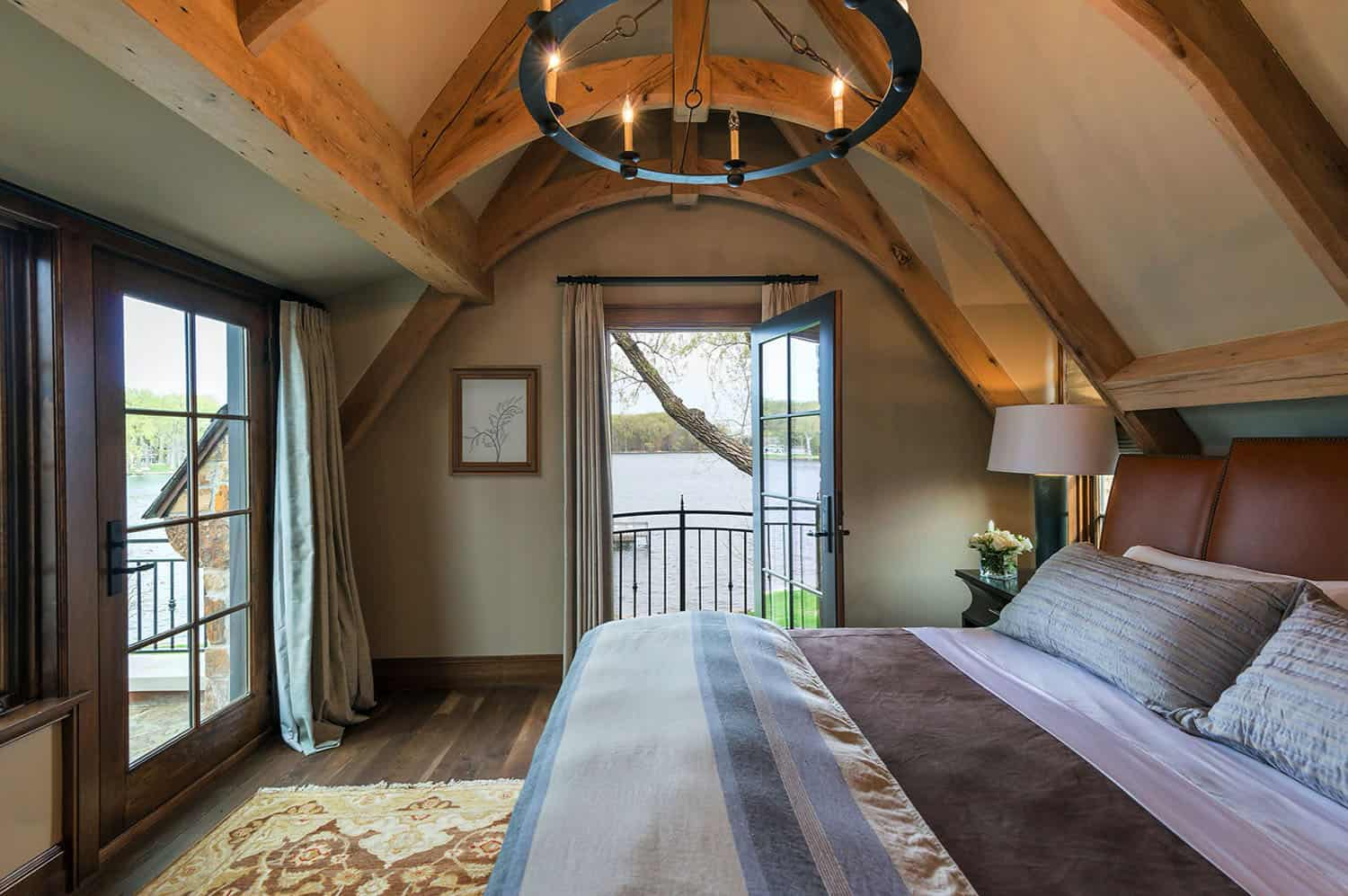 traditional stone house bedroom