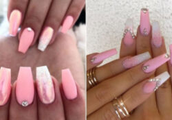 21 ways to wear pink and white ombre nails