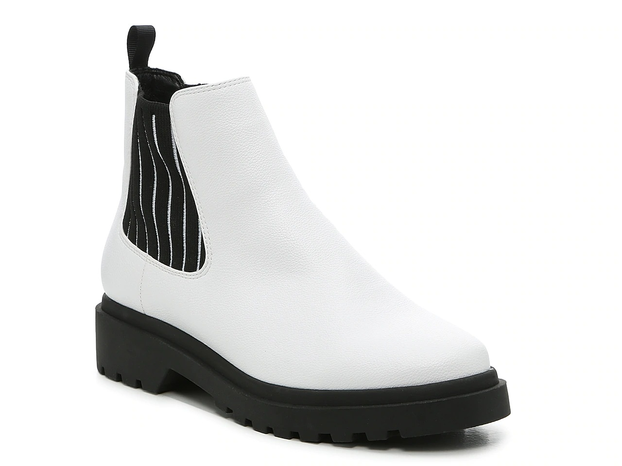 Affordable white chelsea boots