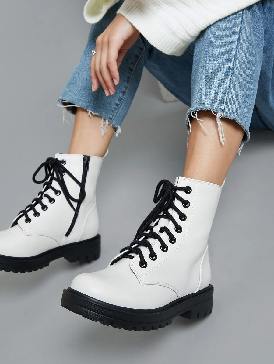 The cheapest Doc Martens lace-up boots look the same