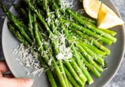 Lemon Parmesan Air Fryer Asparagus