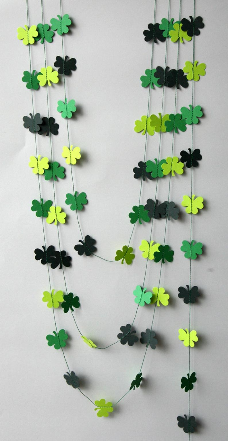 St. Patrick & # 39; s Day wreath, clover wreath