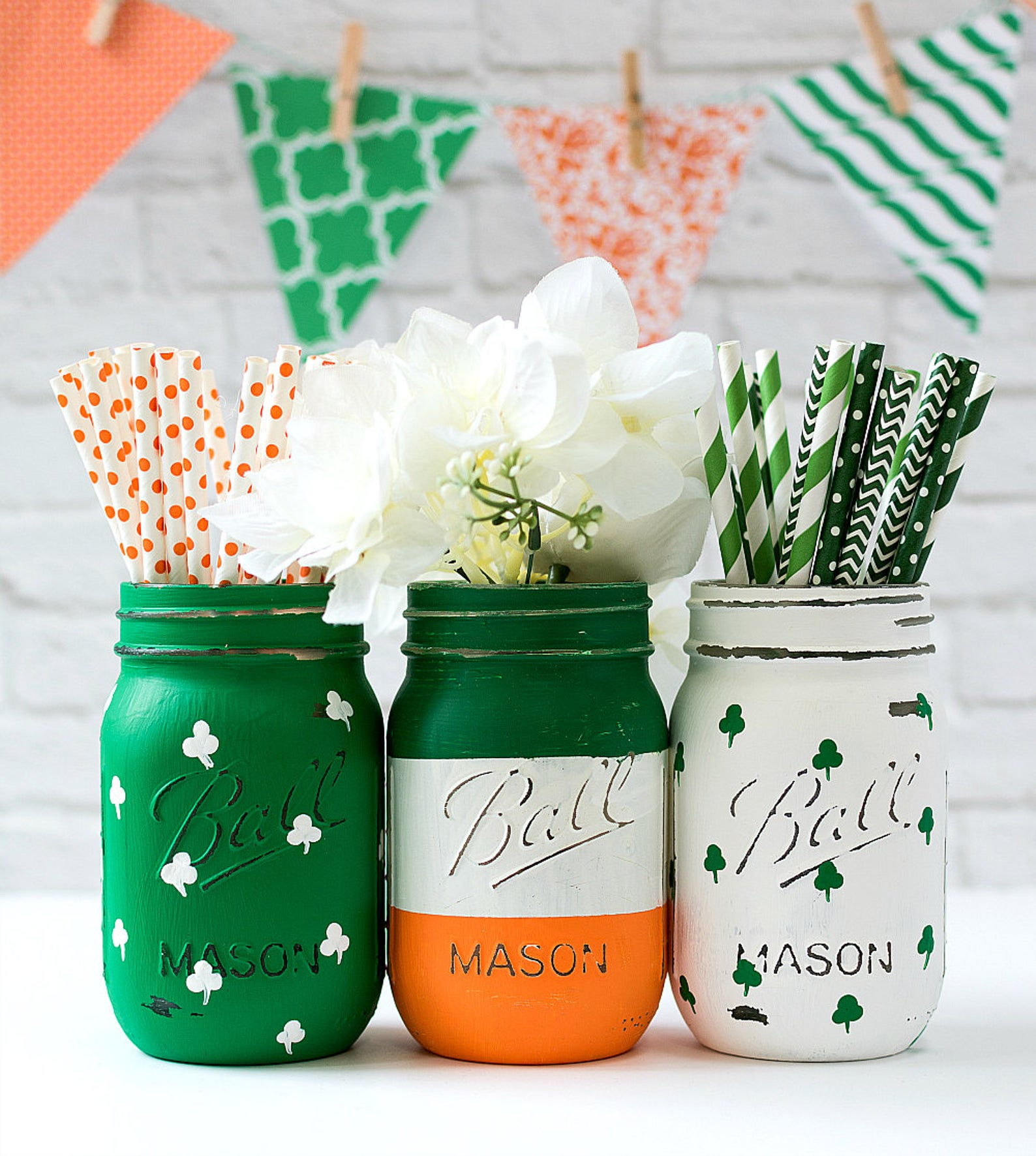 St. Patrick & # 39; s Day Mason Jars, Irish Mason Jars