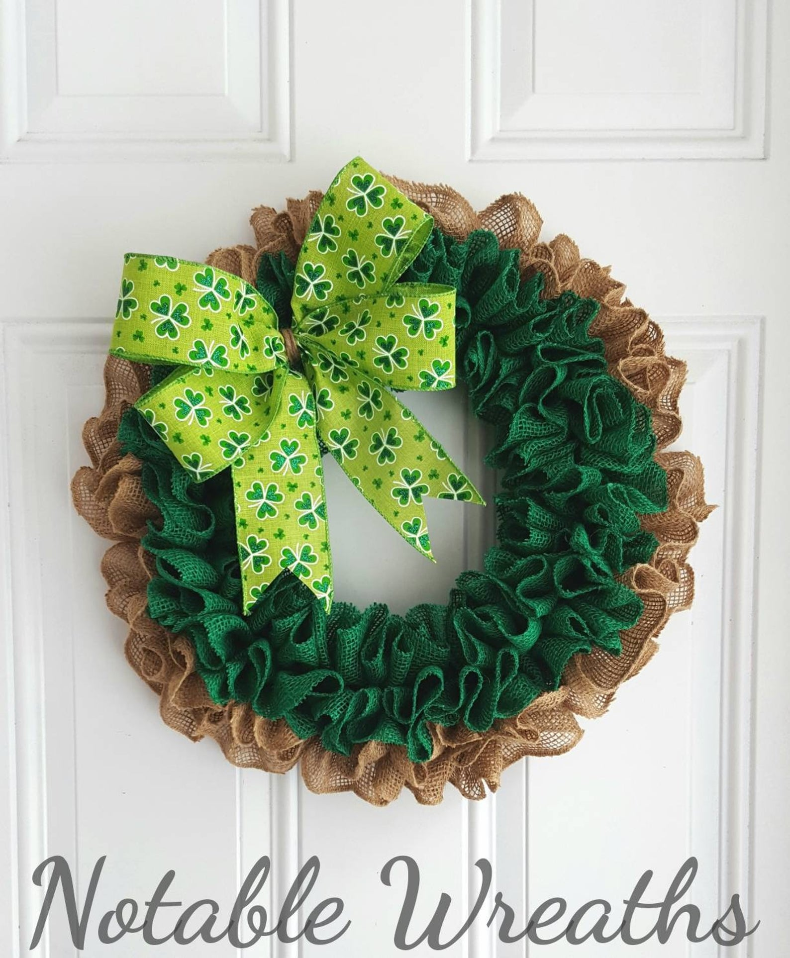 Decoration ideas for St. Patrick & # 39; s Day - wreaths for St. Patrick & # 39; s Day
