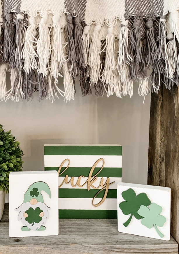 Decoration ideas for St. Patrick & # 39; s Day - wooden signs