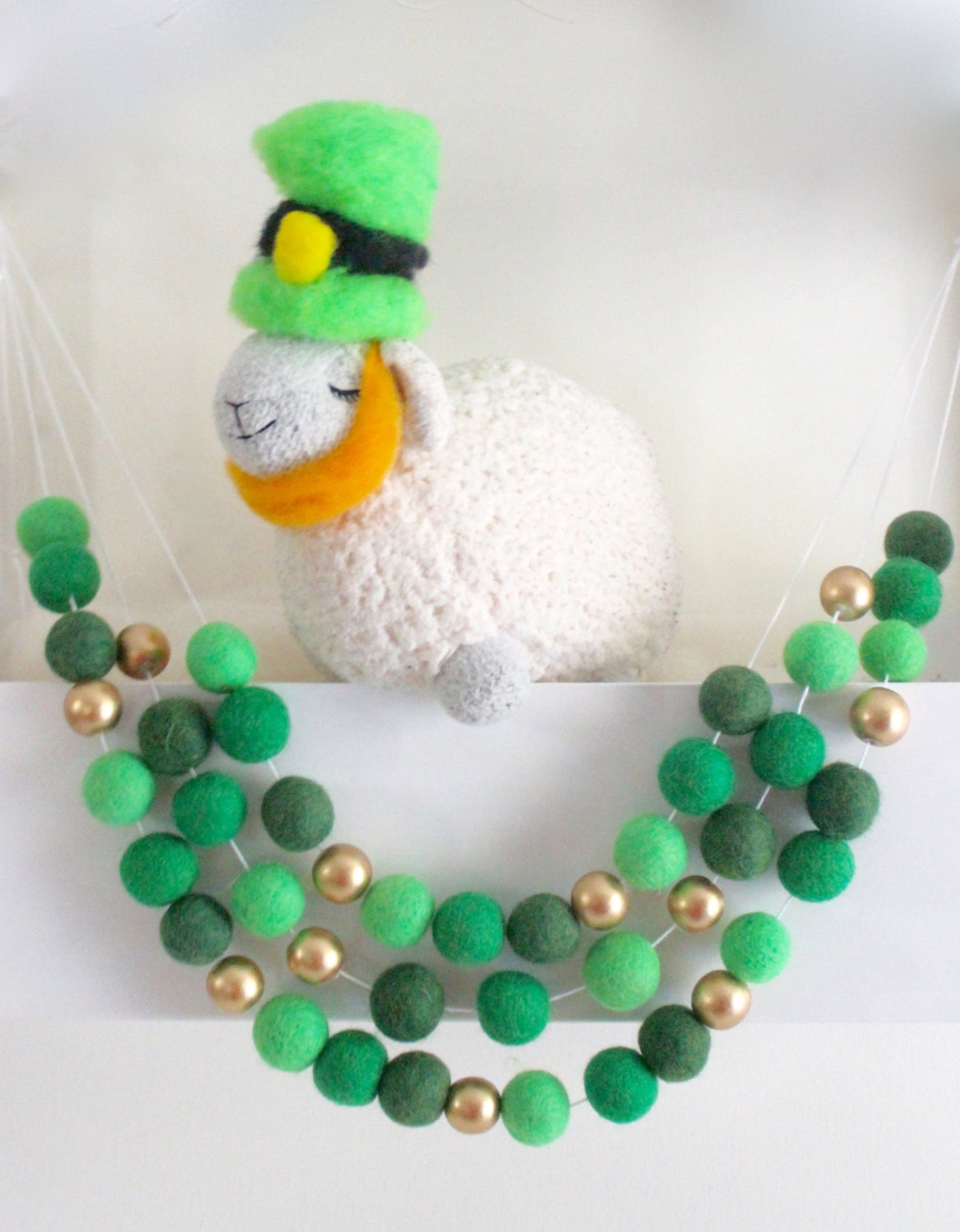 Decoration ideas for St. Patrick & # 39; s Day - wreath for St. Patrick & # 39; s Day