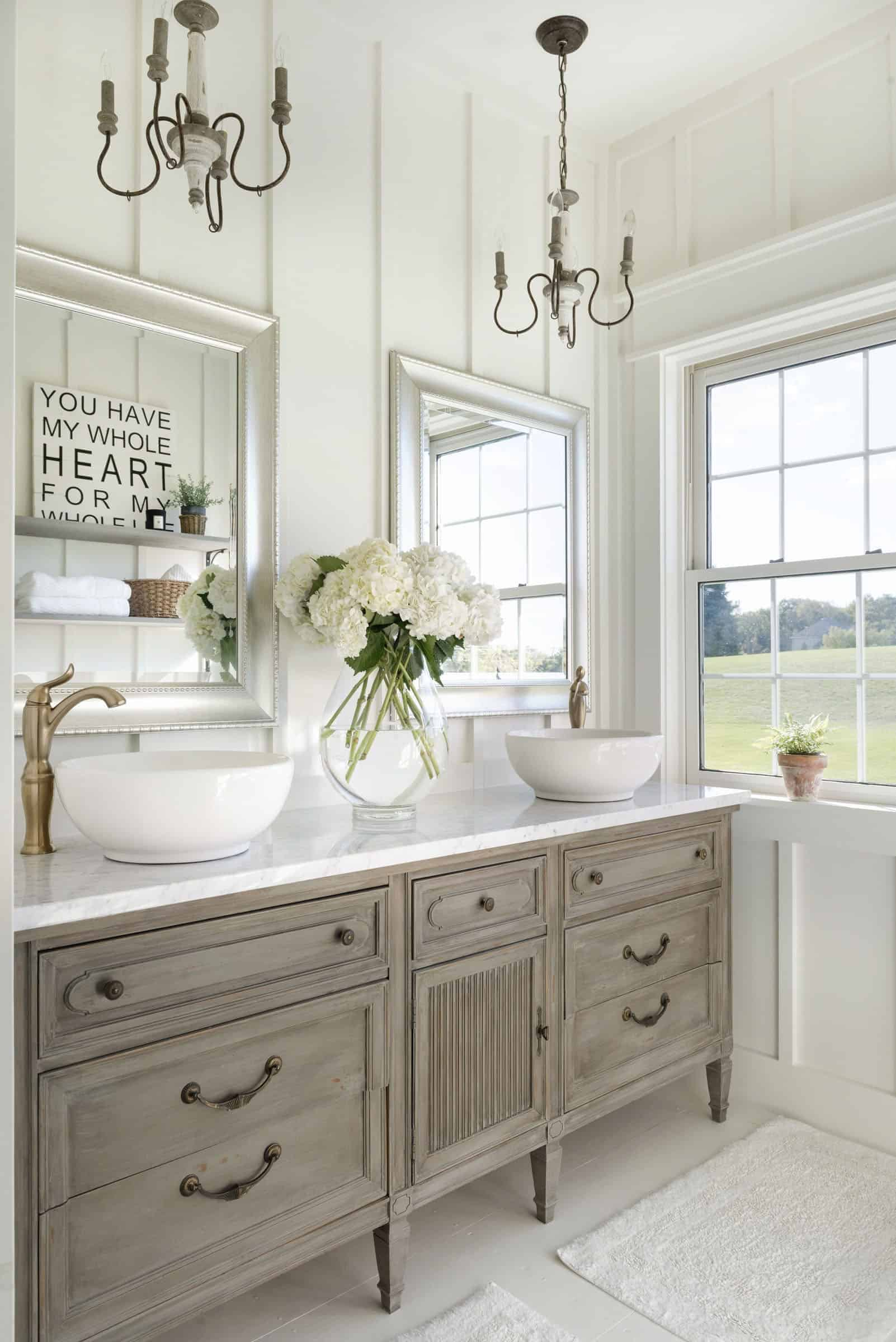 modern bathroom in country style