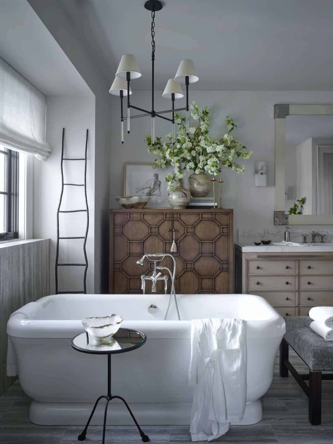 french bathroom in country style