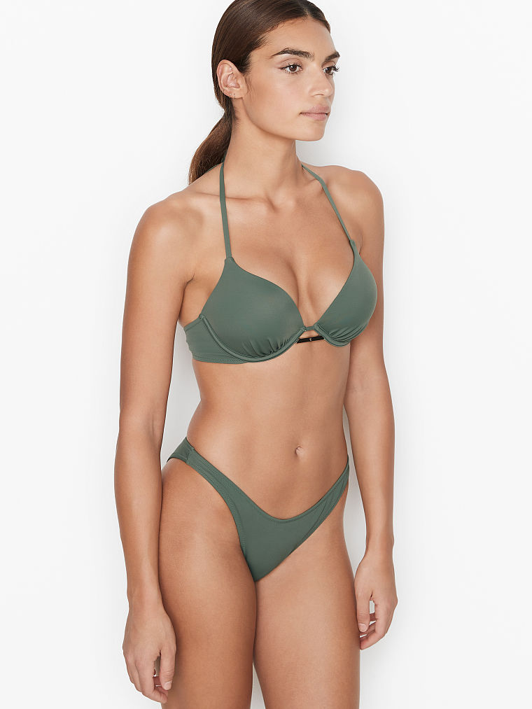 The Best Olive Green One-Piece Swimsuits For A Flat Chest: Victoria's Secret