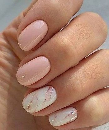 White drawn with light pink nails