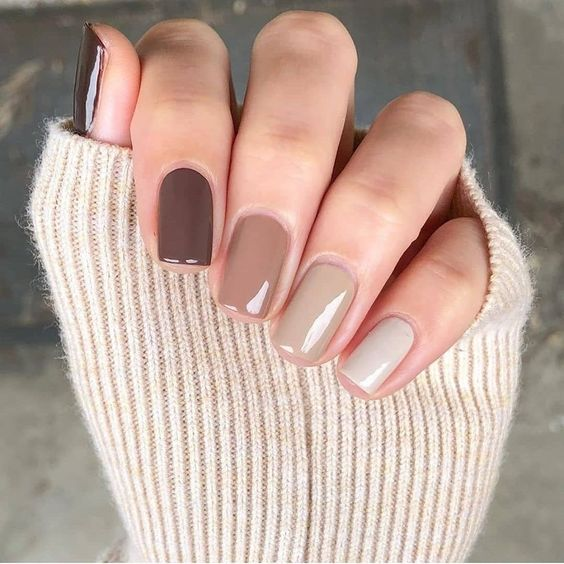 Short and brown ombre nail designs