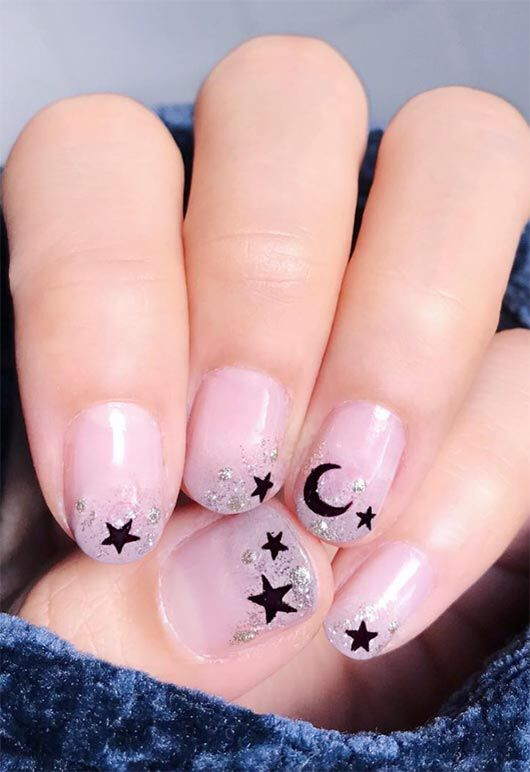 Short nail designs with stars