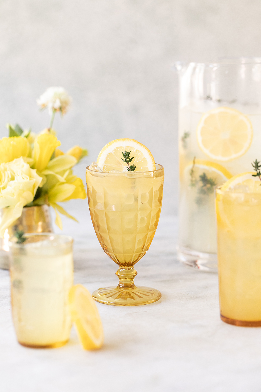 mixed lemonade and tequila drinks