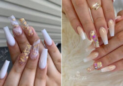 23 best white and gold nails to try