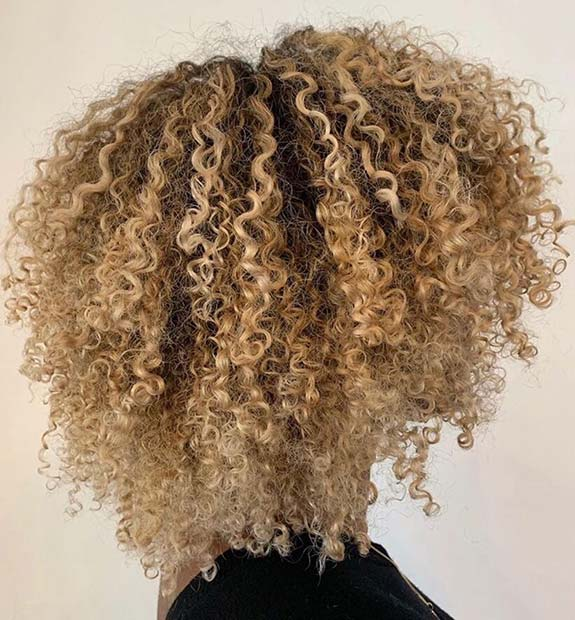 Nice blonde curls