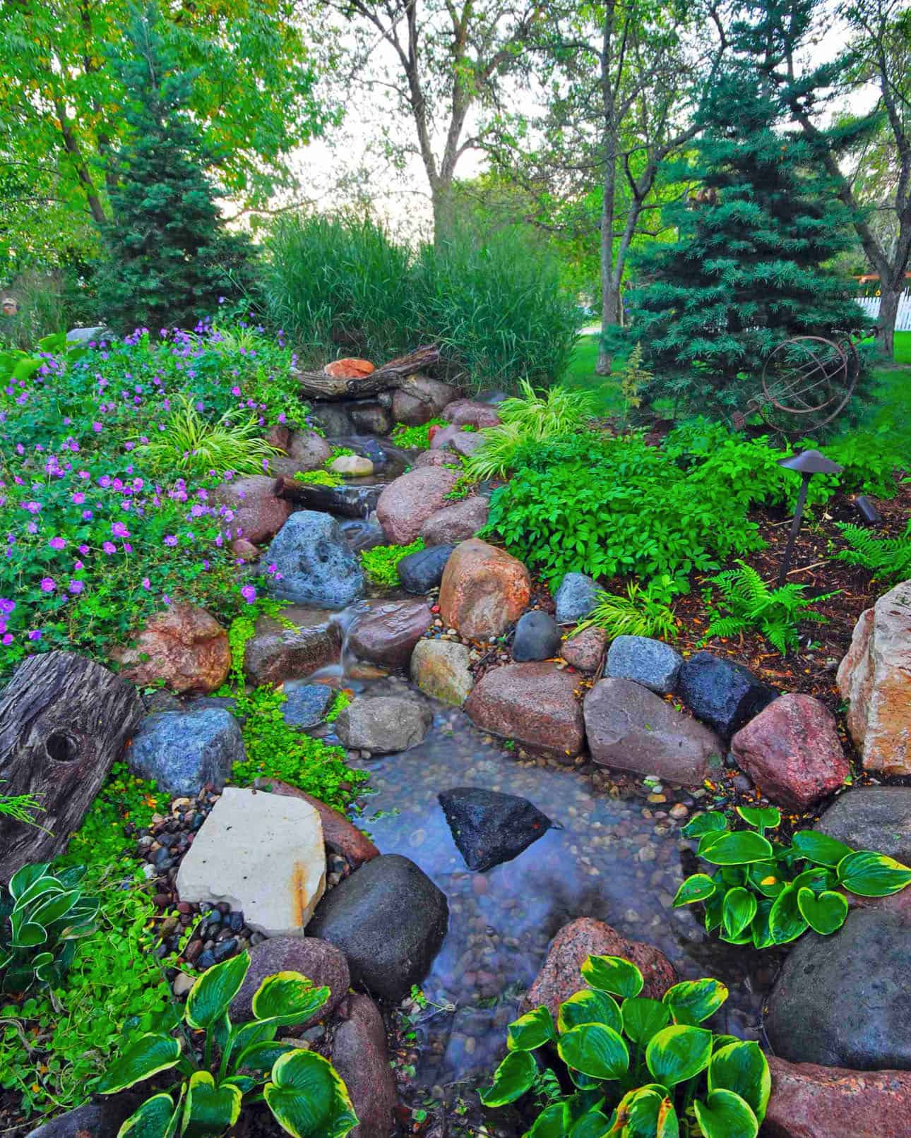 Rock-water feature
