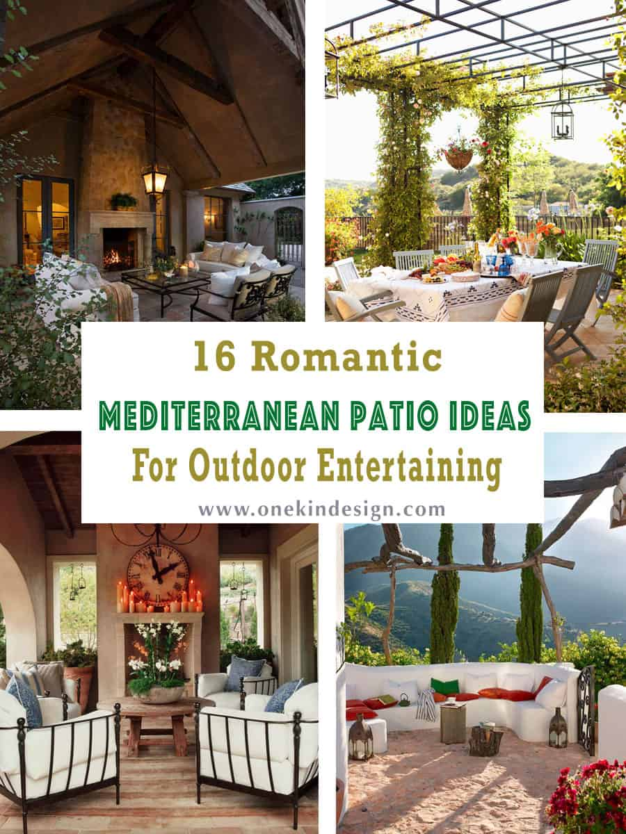 Ideas for Mediterranean terraces