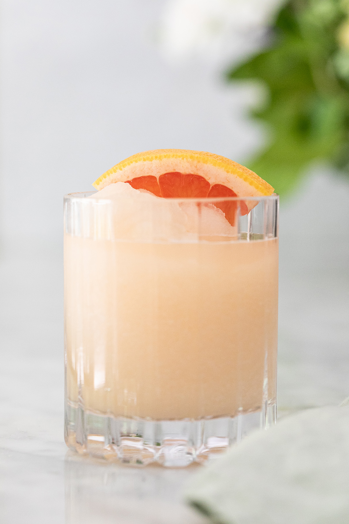 Frozen Paloma Cocktail in a glass