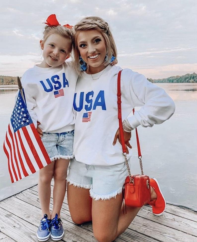 Sweet mom and me 4th of july outfit