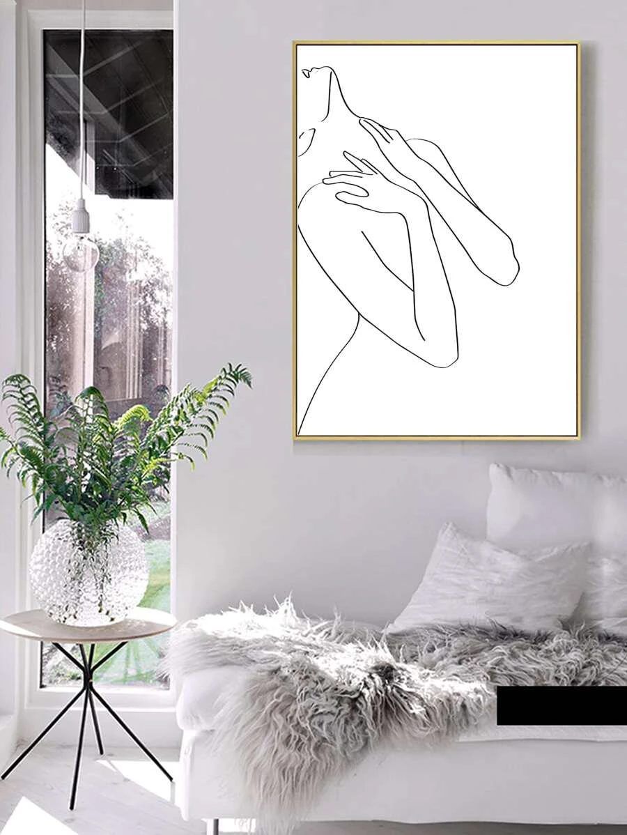 Abstract wall decor with female figures