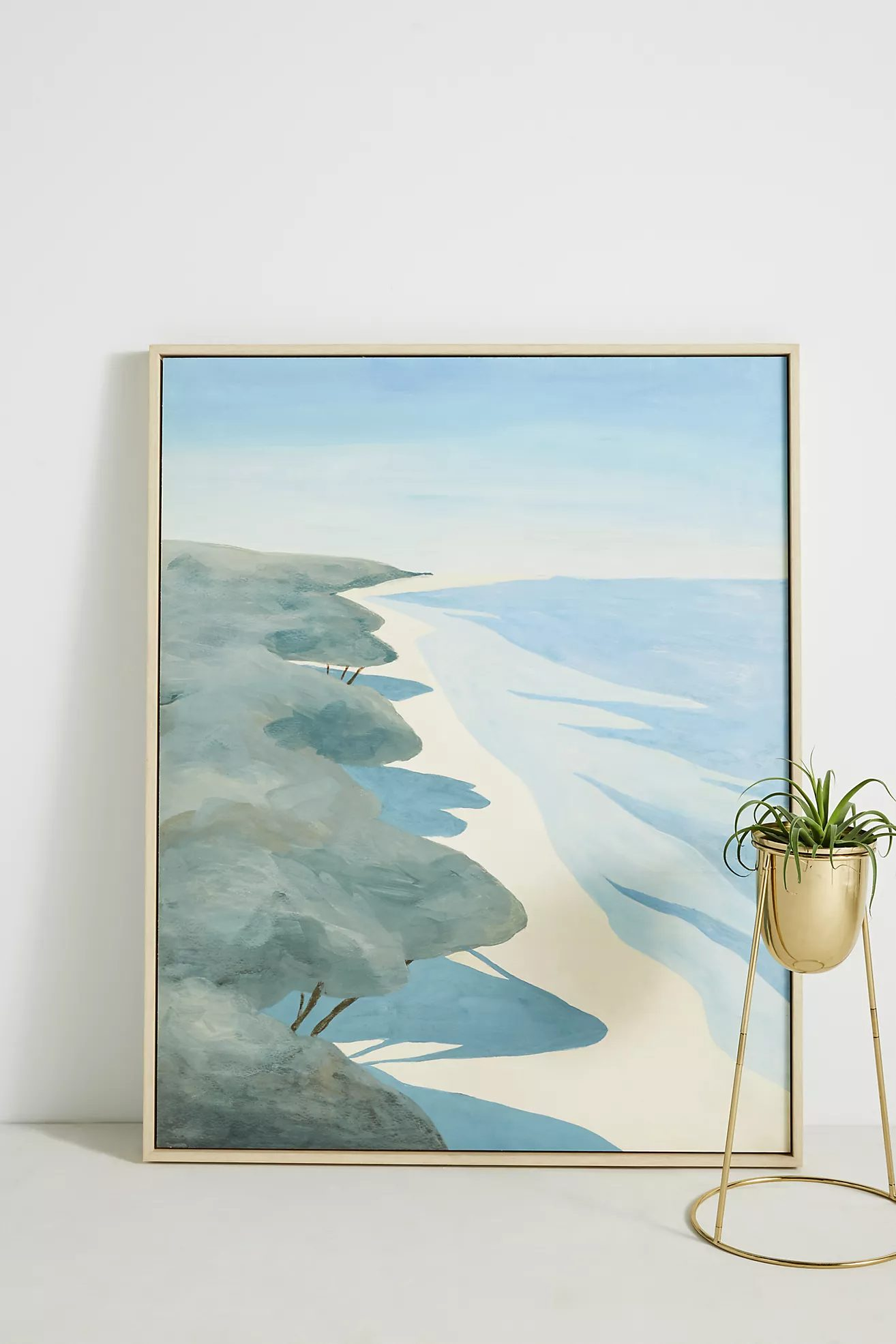 soothing blue sea painting