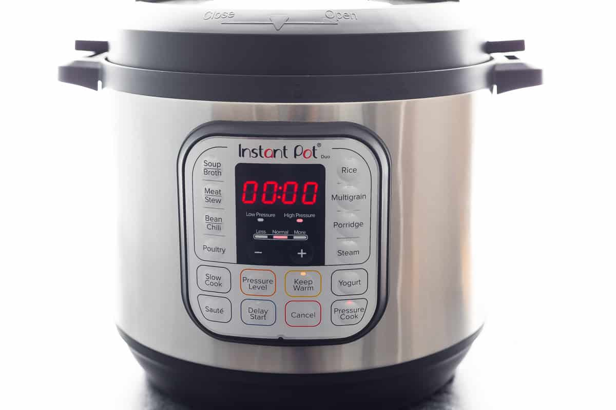Instant Pot with 0 minutes on timer