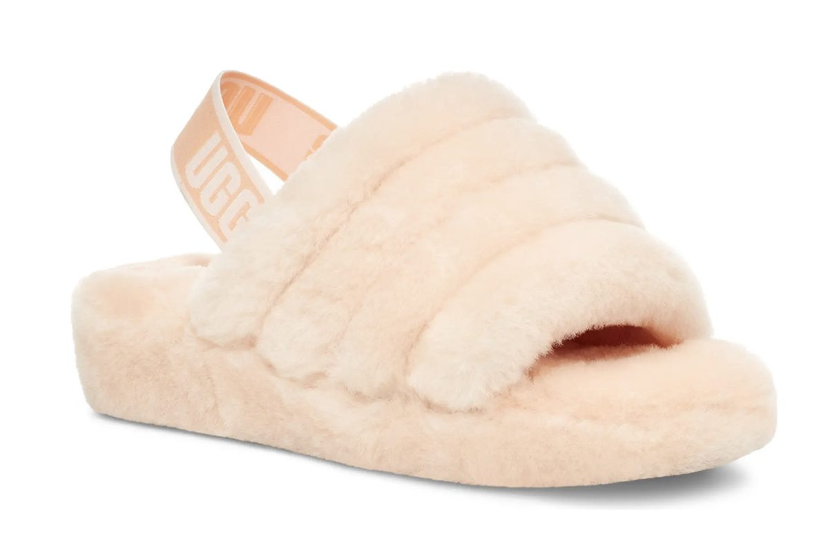 Gifts every girl will want from her boyfriend: Pink UGG Fluff Yes Furry Slippers