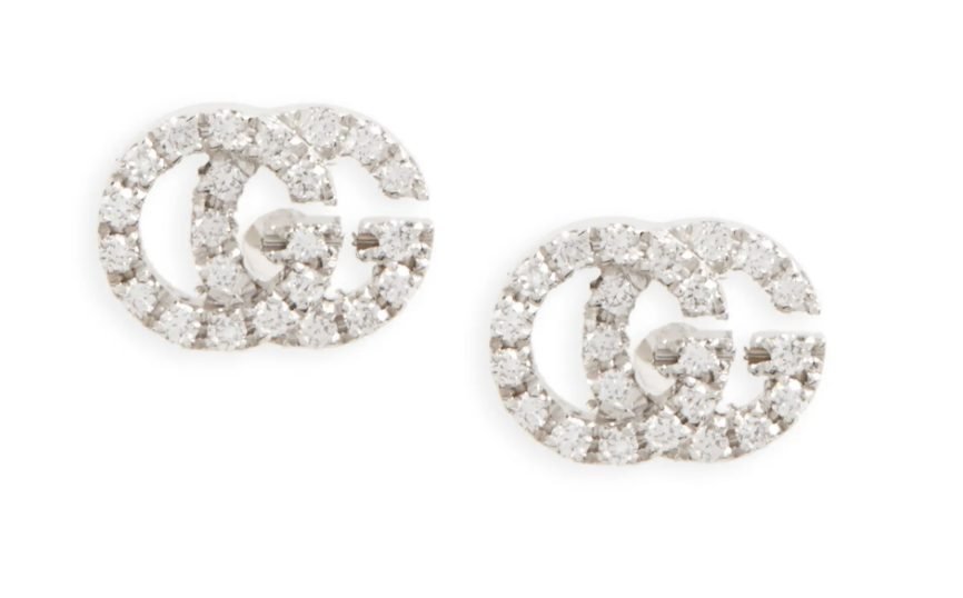 Luxury gifts that every girl wants: Gucci double G stud earrings
