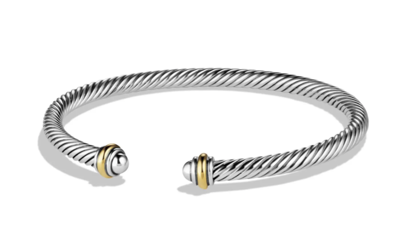 Luxury gifts that every girl wants: David Yurman Cable Classics 18K gold bracelet
