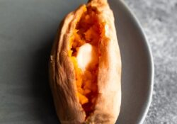 Micro-cook sweet potatoes in the microwave